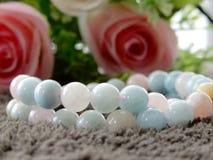 Stone necklace royalty free stock image