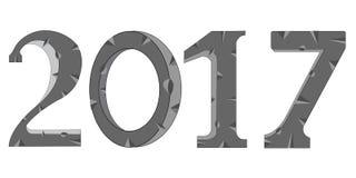 Stone numerals 2017 Stock Image