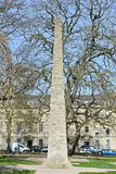 Stone Obelisk. View of a Stone Obelisk in a City Park Stock Photography