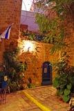 Stone old city Jaffa in Tel Aviv at night, Israel Stock Photography