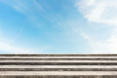 Stone or old concrete stair with sky Stock Image
