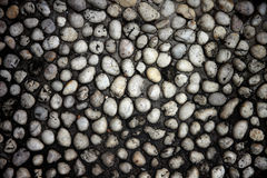 Stone of old wall dark color. Royalty Free Stock Photo