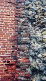 Stone old wall from huge blocks. Background of stones. Beautiful textured vintage antique background. Old masonry new royalty free stock photos