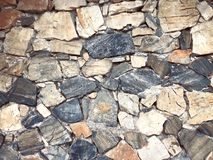 Stone old wall for texture background or abstract Royalty Free Stock Images