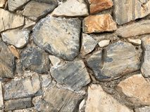 Stone old wall for texture background or abstract Stock Photo