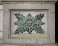 Stone ornament (leaf pattern) Stock Photography