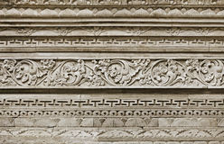 Stone ornament on wall. Indonesia, Bali Island Royalty Free Stock Photography