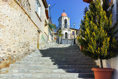 Stone orthodox church in old town of Xanthi, East Macedonia and Thrace Stock Image