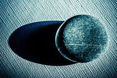 Stone over canvas Stock Photography