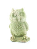 Stone Owl on white background Royalty Free Stock Photos