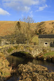 Stone Packhorse Bridge Stock Image