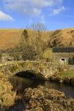 Stone Packhorse Bridge. The stone packhorse bridge crossing Watendlath Beck is situated in Watendlath, Cumbria above Derwentwater in the English Lake District Stock Image