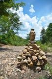 The stone pagoda Stock Image
