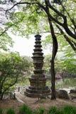 Stone pagoda at the Changgyeong Palace in Seoul stock photos