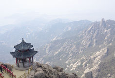 Stone pagoda on the East Peak of  mountain Royalty Free Stock Photography