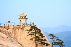 Stone pagoda on the holy mountain Huashan, China Royalty Free Stock Images