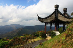 Stone pagoda on the top of mountain Royalty Free Stock Photo