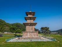 Stone pagodas, Gameunsa Temple Site, Gyeongju, Korea Royalty Free Stock Photos