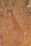 Stone paintings, Namibia Royalty Free Stock Photography