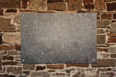 Stone panel on wall Stock Images