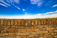 Stone parapet Stock Images
