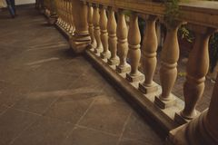 Stone parapet Royalty Free Stock Photos