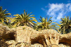 Stone park guell Stock Image