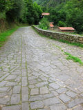 Stone path. Trough a beautiful village Royalty Free Stock Images