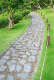 Stone path. In the park Stock Image