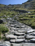 Stone Path. A stone path leading up the side of a hill Royalty Free Stock Image