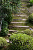 Stone path. A stone pathway inside the silver temple in Kyoto stock images