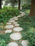 Stone path. A stone path in a chinese park stock image