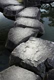 Stone path. Across a tranquil pond royalty free stock photo