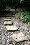 Stone path. In a Romanian botanic garden stock images
