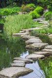 Stone path across water- ishibashi Stock Images