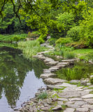 Stone path across water- ishibashi Stock Photo