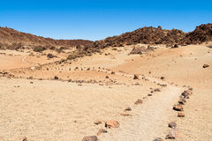 Stone path through the desert Royalty Free Stock Photography