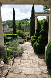 Stone Path in a Formal Garden Stock Photography