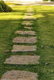 Stone path in a garden.  Stock Photo