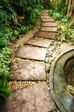 Stone path in the garden Stock Photos