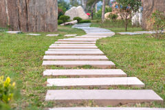Stone Path In The Garden Outdoor Stock Photos
