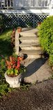 Stone path with Garden royalty free stock image