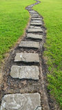 Stone path in grass Royalty Free Stock Image