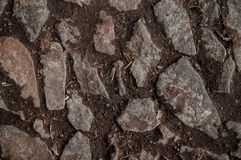 Stone path on ground texture background Stock Images