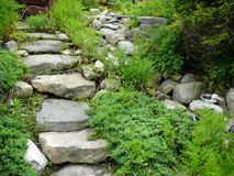 Stone Path in Westport, Massachusetts Royalty Free Stock Images