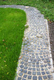 Stone Path In A Garden Stock Image