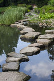 Stone path. In japanese garden royalty free stock image