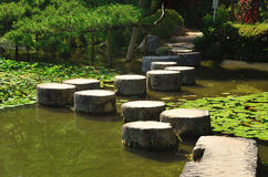 Stone path of Japanese garden, Kyoto Japan. Stock Image