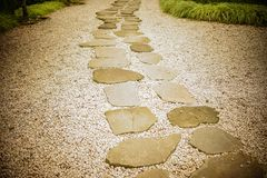 Stone path of Japanese garden royalty free stock image