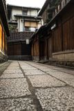 Stone path in Kyoto historic residential area. Royalty Free Stock Photos